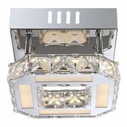 Накладной светильник GloboКвадратные<br>Артикул - GB_67051-8D,Бренд - Globo (Австрия),Коллекция - Miley,Гарантия, месяцы - 24,Тип лампы - светодиодная [LED],Общее кол-во ламп - 1,Напряжение питания лампы, В - 3.3,Максимальная мощность лампы, Вт - 8,Лампы в комплекте - светодиодная [LED],Цвет плафонов и подвесок - белый, неокрашенный, хром,Тип поверхности плафонов - матовый, прозрачный,Материал плафонов и подвесок - акрил, хрусталь K9,Цвет арматуры - хром,Тип поверхности арматуры - глянцевый,Материал арматуры - металл,Возможность подлючения диммера - нельзя,Класс электробезопасности - I,Степень пылевлагозащиты, IP - 20,Диапазон рабочих температур - комнатная температура<br>