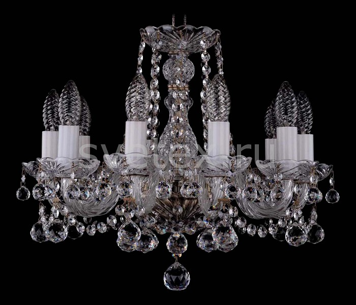 Фото Подвесная люстра Bohemia Ivele Crystal 1402 1402/10/141/Pa/Balls