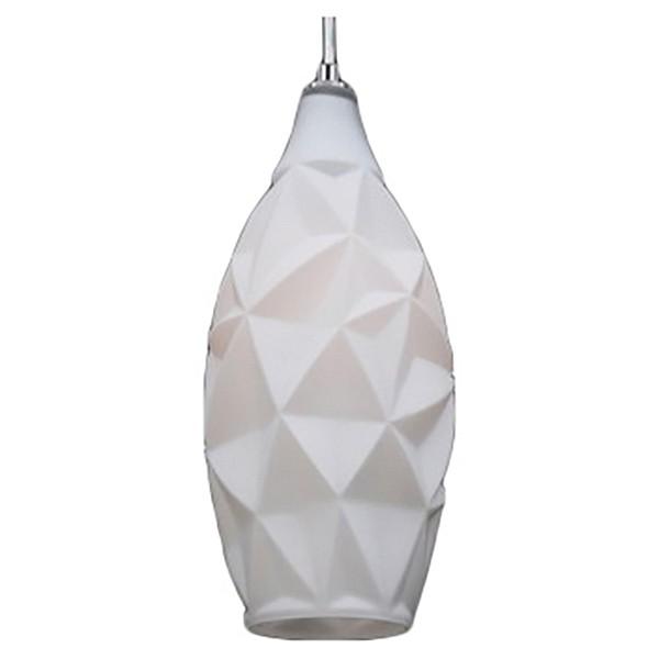 Подвесной светильник Crystal LuxБарные<br>Артикул - CU_2680_201,Бренд - Crystal Lux (Испания),Коллекция - Paper,Гарантия, месяцы - 24,Время изготовления, дней - 1,Высота, мм - 330-1300,Диаметр, мм - 150,Тип лампы - компактная люминесцентная [КЛЛ] ИЛИнакаливания ИЛИсветодиодная [LED],Общее кол-во ламп - 1,Напряжение питания лампы, В - 220,Максимальная мощность лампы, Вт - 60,Лампы в комплекте - отсутствуют,Цвет плафонов и подвесок - белый,Тип поверхности плафонов - матовый, рельефный,Материал плафонов и подвесок - стекло,Цвет арматуры - хром,Тип поверхности арматуры - глянцевый,Материал арматуры - металл,Количество плафонов - 1,Возможность подлючения диммера - можно, если установить лампу накаливания,Тип цоколя лампы - E27,Класс электробезопасности - I,Степень пылевлагозащиты, IP - 20,Диапазон рабочих температур - комнатная температура,Дополнительные параметры - диаметр основания 100 мм<br>