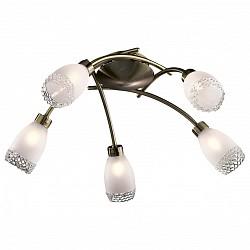 Потолочная люстра Odeon Light5 или 6 ламп<br>Артикул - OD_1803_5C,Бренд - Odeon Light (Италия),Коллекция - Lerta,Гарантия, месяцы - 24,Время изготовления, дней - 1,Высота, мм - 200,Диаметр, мм - 530,Тип лампы - галогеновая,Общее кол-во ламп - 5,Напряжение питания лампы, В - 220,Максимальная мощность лампы, Вт - 40,Лампы в комплекте - галогеновые G9,Цвет плафонов и подвесок - белый с каймой,Тип поверхности плафонов - матовый, рельефный,Материал плафонов и подвесок - стекло,Цвет арматуры - бронза,Тип поверхности арматуры - глянцевый,Материал арматуры - металл,Возможность подлючения диммера - можно,Форма и тип колбы - пальчиковая,Тип цоколя лампы - G9,Класс электробезопасности - I,Общая мощность, Вт - 200,Степень пылевлагозащиты, IP - 20,Диапазон рабочих температур - комнатная температура<br>