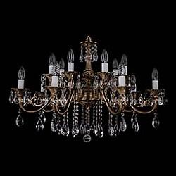 Подвесная люстра Bohemia Ivele CrystalБолее 6 ламп<br>Артикул - BI_1703_14_B_FP,Бренд - Bohemia Ivele Crystal (Чехия),Коллекция - 1703,Гарантия, месяцы - 12,Высота, мм - 550,Диаметр, мм - 850,Размер упаковки, мм - 710x710x240,Тип лампы - компактная люминесцентная [КЛЛ] ИЛИнакаливания ИЛИсветодиодная [LED],Общее кол-во ламп - 14,Напряжение питания лампы, В - 220,Максимальная мощность лампы, Вт - 40,Лампы в комплекте - отсутствуют,Цвет плафонов и подвесок - неокрашенный,Тип поверхности плафонов - прозрачный,Материал плафонов и подвесок - хрусталь,Цвет арматуры - патина французская,Тип поверхности арматуры - глянцевый, рельефный,Материал арматуры - металл,Возможность подлючения диммера - можно, если установить лампу накаливания,Форма и тип колбы - свеча ИЛИ свеча на ветру,Тип цоколя лампы - E14,Класс электробезопасности - I,Общая мощность, Вт - 560,Степень пылевлагозащиты, IP - 20,Диапазон рабочих температур - комнатная температура,Дополнительные параметры - способ крепления светильника к потолку – на крюке<br>