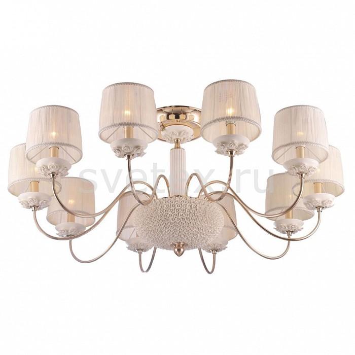 Люстра на штанге Crystal LuxСветильники<br>Артикул - CU_1020_110,Бренд - Crystal Lux (Испания),Коллекция - Adagio,Гарантия, месяцы - 24,Высота, мм - 500,Диаметр, мм - 1040,Тип лампы - компактная люминесцентная [КЛЛ] ИЛИнакаливания ИЛИсветодиодная [LED],Общее кол-во ламп - 10,Напряжение питания лампы, В - 220,Максимальная мощность лампы, Вт - 60,Лампы в комплекте - отсутствуют,Цвет плафонов и подвесок - белый,Тип поверхности плафонов - матовый, рельефный,Материал плафонов и подвесок - текстиль,Цвет арматуры - белый, золото,Тип поверхности арматуры - глянцевый, матовый, рельефный,Материал арматуры - керамика, металл,Количество плафонов - 10,Возможность подлючения диммера - можно, если установить лампу накаливания,Тип цоколя лампы - E14,Класс электробезопасности - I,Общая мощность, Вт - 600,Степень пылевлагозащиты, IP - 20,Диапазон рабочих температур - комнатная температура,Дополнительные параметры - способ крепления светильника к потолку - на монтажной пластине, диаметр основания 228 мм<br>