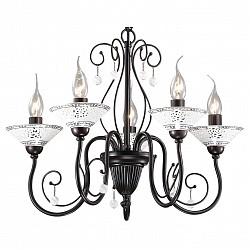Подвесная люстра Odeon Light5 или 6 ламп<br>Артикул - OD_2699_5,Бренд - Odeon Light (Италия),Коллекция - Rey,Гарантия, месяцы - 24,Высота, мм - 390,Диаметр, мм - 540,Тип лампы - компактная люминесцентная [КЛЛ] ИЛИнакаливания ИЛИсветодиодная [LED],Общее кол-во ламп - 5,Напряжение питания лампы, В - 220,Максимальная мощность лампы, Вт - 60,Лампы в комплекте - отсутствуют,Цвет плафонов и подвесок - белый,Тип поверхности плафонов - глянцевый,Материал плафонов и подвесок - стекло,Цвет арматуры - белый с рисунком, темно-коричневый,Тип поверхности арматуры - глянцевый,Материал арматуры - керамика, металл,Возможность подлючения диммера - можно, если установить лампу накаливания,Форма и тип колбы - свеча ИЛИ свеча на ветру,Тип цоколя лампы - E14,Класс электробезопасности - I,Общая мощность, Вт - 300,Степень пылевлагозащиты, IP - 20,Диапазон рабочих температур - комнатная температура,Дополнительные параметры - указана высота светильника без подвеса<br>