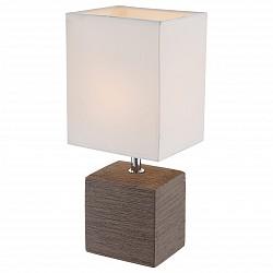 Настольная лампа GloboС абажуром<br>Артикул - GB_21677,Бренд - Globo (Австрия),Коллекция - Geri,Гарантия, месяцы - 24,Высота, мм - 290,Размер упаковки, мм - 145x120x190,Тип лампы - компактная люминесцентная [КЛЛ] ИЛИнакаливания ИЛИсветодиодная [LED],Общее кол-во ламп - 1,Напряжение питания лампы, В - 220,Максимальная мощность лампы, Вт - 40,Лампы в комплекте - отсутствуют,Цвет плафонов и подвесок - бежевый,Тип поверхности плафонов - матовый,Материал плафонов и подвесок - текстиль,Цвет арматуры - бежевый, хром,Тип поверхности арматуры - глянцевый, матовый,Материал арматуры - керамика, металл,Тип цоколя лампы - E14,Класс электробезопасности - II,Степень пылевлагозащиты, IP - 20,Диапазон рабочих температур - комнатная температура<br>