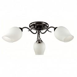 Потолочная люстра LumionНе более 4 ламп<br>Артикул - LMN_3076_3C,Бренд - Lumion (Италия),Коллекция - Rondina,Гарантия, месяцы - 24,Высота, мм - 200,Диаметр, мм - 730,Размер упаковки, мм - 210x290x290,Тип лампы - компактная люминесцентная [КЛЛ] ИЛИнакаливания ИЛИсветодиодная [LED],Общее кол-во ламп - 3,Напряжение питания лампы, В - 220,Максимальная мощность лампы, Вт - 60,Лампы в комплекте - отсутствуют,Цвет плафонов и подвесок - белый, неокрашенный,Тип поверхности плафонов - матовый, прозрачный,Материал плафонов и подвесок - стекло, хрусталь,Цвет арматуры - черный,Тип поверхности арматуры - глянцевый,Материал арматуры - металл,Возможность подлючения диммера - можно, если установить лампу накаливания,Тип цоколя лампы - E27,Класс электробезопасности - I,Общая мощность, Вт - 180,Степень пылевлагозащиты, IP - 20,Диапазон рабочих температур - комнатная температура,Дополнительные параметры - способ крепления к потолку - на монтажной пластине<br>