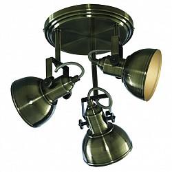 Спот Arte LampС 3 лампами<br>Артикул - AR_A5213PL-3AB,Бренд - Arte Lamp (Италия),Коллекция - Martin,Гарантия, месяцы - 24,Диаметр, мм - 300,Размер упаковки, мм - 255x250x260,Тип лампы - компактная люминесцентная [КЛЛ] ИЛИнакаливания ИЛИсветодиодная [LED],Общее кол-во ламп - 3,Напряжение питания лампы, В - 220,Максимальная мощность лампы, Вт - 40,Лампы в комплекте - отсутствуют,Цвет плафонов и подвесок - бронза античная,Тип поверхности плафонов - глянцевый,Материал плафонов и подвесок - металл,Цвет арматуры - бронза античная,Тип поверхности арматуры - глянцевый,Материал арматуры - металл,Возможность подлючения диммера - можно, если установить лампу накаливания,Тип цоколя лампы - E14,Класс электробезопасности - I,Общая мощность, Вт - 120,Степень пылевлагозащиты, IP - 20,Диапазон рабочих температур - комнатная температура,Дополнительные параметры - поворотный светильник, способ крепления к потолку — на монтажной пластине<br>