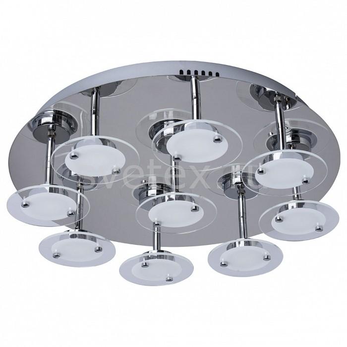 Накладной светильник MW-LightСветодиодные<br>Артикул - MW_678011109,Бренд - MW-Light (Германия),Коллекция - Граффити 16,Гарантия, месяцы - 24,Высота, мм - 125,Диаметр, мм - 500,Тип лампы - светодиодная [LED],Общее кол-во ламп - 9,Максимальная мощность лампы, Вт - 5,Цвет лампы - белый теплый,Лампы в комплекте - светодиодные [LED],Цвет плафонов и подвесок - белый, неокрашенный,Тип поверхности плафонов - матовый, прозрачный,Материал плафонов и подвесок - стекло,Цвет арматуры - хром,Тип поверхности арматуры - глянцевый,Материал арматуры - металл,Количество плафонов - 9,Возможность подлючения диммера - нельзя,Цветовая температура, K - 3000 K,Световой поток, лм - 4050,Экономичнее лампы накаливания - в 5.6 раза,Светоотдача, лм/Вт - 90,Класс электробезопасности - I,Напряжение питания, В - 220,Общая мощность, Вт - 45,Степень пылевлагозащиты, IP - 20,Диапазон рабочих температур - комнатная температура,Дополнительные параметры - способ крепления к потолку - на монтажной пластине<br>