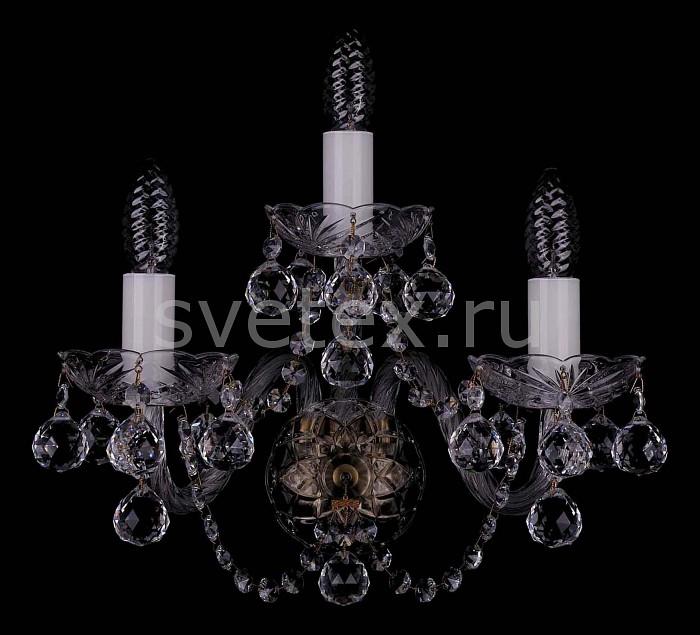 Фото Бра Bohemia Ivele Crystal 1400 1400/3/Big/Pa/Balls