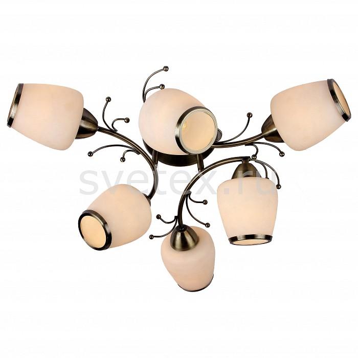 Потолочная люстра SilverLightЛюстра пятирожковая<br>Артикул - SL_501.53.6,Бренд - SilverLight (Франция),Коллекция - Verbena,Гарантия, месяцы - 12,Высота, мм - 270,Диаметр, мм - 550,Тип лампы - компактная люминесцентная [КЛЛ] ИЛИнакаливания ИЛИсветодиодная [LED],Общее кол-во ламп - 6,Напряжение питания лампы, В - 220,Максимальная мощность лампы, Вт - 60,Лампы в комплекте - отсутствуют,Цвет плафонов и подвесок - белый с каймой,Тип поверхности плафонов - матовый,Материал плафонов и подвесок - стекло,Цвет арматуры - бронза,Тип поверхности арматуры - матовый,Материал арматуры - металл,Количество плафонов - 6,Возможность подлючения диммера - можно, если установить лампу накаливания,Тип цоколя лампы - E27,Класс электробезопасности - I,Общая мощность, Вт - 360,Степень пылевлагозащиты, IP - 20,Диапазон рабочих температур - комнатная температура,Дополнительные параметры - способ крепления светильника к потолку – на монтажной пластине<br>