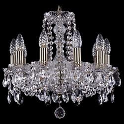 Подвесная люстра Bohemia Ivele CrystalБолее 6 ламп<br>Артикул - BI_1402_10_141_Pa,Бренд - Bohemia Ivele Crystal (Чехия),Коллекция - 1402,Гарантия, месяцы - 24,Высота, мм - 410,Диаметр, мм - 460,Размер упаковки, мм - 510x510x200,Тип лампы - компактная люминесцентная [КЛЛ] ИЛИнакаливания ИЛИсветодиодная [LED],Общее кол-во ламп - 10,Напряжение питания лампы, В - 220,Максимальная мощность лампы, Вт - 40,Лампы в комплекте - отсутствуют,Цвет плафонов и подвесок - неокрашенный,Тип поверхности плафонов - прозрачный,Материал плафонов и подвесок - хрусталь,Цвет арматуры - неокрашенный, патина,Тип поверхности арматуры - глянцевый, прозрачный,Материал арматуры - металл, стекло,Возможность подлючения диммера - можно, если установить лампу накаливания,Форма и тип колбы - свеча,Тип цоколя лампы - E14,Класс электробезопасности - I,Общая мощность, Вт - 400,Степень пылевлагозащиты, IP - 20,Диапазон рабочих температур - комнатная температура,Дополнительные параметры - способ крепления светильника к потолку – на крюке<br>