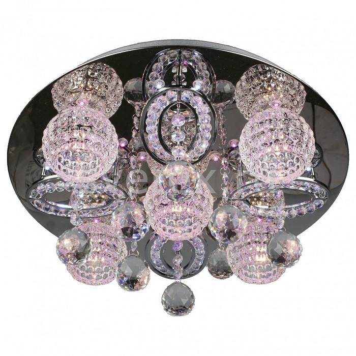 Потолочная люстра OmniluxСветодиодные<br>Артикул - OM_OML-14307-05,Бренд - Omnilux (Италия),Коллекция - OML-143,Гарантия, месяцы - 12,Высота, мм - 200,Диаметр, мм - 450,Размер упаковки, мм - 500x500x150,Тип лампы - галогеновая,Общее кол-во ламп - 5,Напряжение питания лампы, В - 12,Максимальная мощность лампы, Вт - 20,Цвет лампы - белый теплый,Лампы в комплекте - галогеновые G4,Цвет плафонов и подвесок - неокрашенный,Тип поверхности плафонов - прозрачный,Материал плафонов и подвесок - стекло, хрусталь,Цвет арматуры - хром,Тип поверхности арматуры - глянцевый,Материал арматуры - металл,Количество плафонов - 5,Наличие выключателя, диммера или пульта ДУ - пульт ДУ,Компоненты, входящие в комплект - трансформатор 12 В,Форма и тип колбы - пальчиковая,Тип цоколя лампы - G4,Цветовая температура, K - 2800 - 3200 K,Экономичнее лампы накаливания - на 50%,Класс электробезопасности - I,Напряжение питания, В - 220,Общая мощность, Вт - 100,Степень пылевлагозащиты, IP - 20,Диапазон рабочих температур - комнатная температура,Дополнительные параметры - способ крепления светильника к потолку – на монтажной пластине, светильник декорирован сведиодами белого, красного, голубого цветов<br>