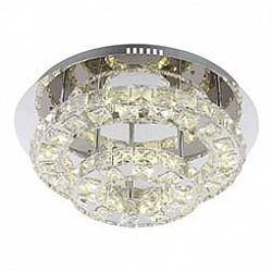 Накладной светильник GloboНакладные светильники<br>Артикул - GB_67049-27,Бренд - Globo (Австрия),Коллекция - Calisa,Гарантия, месяцы - 24,Высота, мм - 175,Диаметр, мм - 420,Размер упаковки, мм - 440x210x440,Тип лампы - светодиодная [LED],Общее кол-во ламп - 2,Напряжение питания лампы, В - 24,Максимальная мощность лампы, Вт - 13.5,Лампы в комплекте - светодиодные [LED],Цвет плафонов и подвесок - неокрашенный,Тип поверхности плафонов - прозрачный,Материал плафонов и подвесок - хрусталь K5,Цвет арматуры - хром,Тип поверхности арматуры - глянцевый,Материал арматуры - металл,Возможность подлючения диммера - нельзя,Класс электробезопасности - I,Общая мощность, Вт - 27,Степень пылевлагозащиты, IP - 20,Диапазон рабочих температур - комнатная температура,Дополнительные параметры - способ крепления светильника к потолку - на монтажной пластине<br>