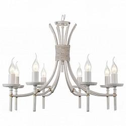 Подвесная люстра ST-LuceБолее 6 ламп<br>Артикул - SL155.503.08,Бренд - ST-Luce (Китай),Коллекция - SL155,Гарантия, месяцы - 24,Высота, мм - 450-950,Диаметр, мм - 660,Размер упаковки, мм - 650х630х500,Тип лампы - компактная люминесцентная [КЛЛ] ИЛИнакаливания ИЛИсветодиодная [LED],Общее кол-во ламп - 8,Напряжение питания лампы, В - 220,Максимальная мощность лампы, Вт - 40,Лампы в комплекте - отсутствуют,Цвет арматуры - слоновая кость,Тип поверхности арматуры - матовый,Материал арматуры - металл,Возможность подлючения диммера - можно, если установить лампу накаливания,Форма и тип колбы - свеча ИЛИ свеча на ветру,Тип цоколя лампы - E14,Класс электробезопасности - I,Общая мощность, Вт - 320,Степень пылевлагозащиты, IP - 20,Диапазон рабочих температур - комнатная температура,Дополнительные параметры - регулируется по высоте,  способ крепления светильника к потолку – на крюке<br>