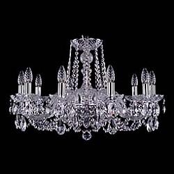 Подвесная люстра Bohemia Ivele CrystalБолее 6 ламп<br>Артикул - BI_1402_10_240_Ni,Бренд - Bohemia Ivele Crystal (Чехия),Коллекция - 1402,Гарантия, месяцы - 24,Высота, мм - 700,Диаметр, мм - 700,Размер упаковки, мм - 510x510x200,Тип лампы - компактная люминесцентная [КЛЛ] ИЛИнакаливания ИЛИсветодиодная [LED],Общее кол-во ламп - 10,Напряжение питания лампы, В - 220,Максимальная мощность лампы, Вт - 40,Лампы в комплекте - отсутствуют,Цвет плафонов и подвесок - неокрашенный,Тип поверхности плафонов - прозрачный,Материал плафонов и подвесок - хрусталь,Цвет арматуры - неокрашенный, никель,Тип поверхности арматуры - глянцевый, прозрачный,Материал арматуры - металл, стекло,Возможность подлючения диммера - можно, если установить лампу накаливания,Форма и тип колбы - свеча,Тип цоколя лампы - E14,Класс электробезопасности - I,Общая мощность, Вт - 400,Степень пылевлагозащиты, IP - 20,Диапазон рабочих температур - комнатная температура,Дополнительные параметры - способ крепления светильника к потолку – на крюке<br>