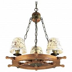 Подвесная люстра Odeon LightТекстильные плафоны<br>Артикул - OD_2769_3,Бренд - Odeon Light (Италия),Коллекция - Rotar,Гарантия, месяцы - 24,Время изготовления, дней - 1,Высота, мм - 1100,Диаметр, мм - 600,Тип лампы - компактная люминесцентная [КЛЛ] ИЛИнакаливания ИЛИсветодиодная [LED],Общее кол-во ламп - 3,Напряжение питания лампы, В - 220,Максимальная мощность лампы, Вт - 40,Лампы в комплекте - отсутствуют,Цвет плафонов и подвесок - белый с коричневым рисунком,Тип поверхности плафонов - матовый,Материал плафонов и подвесок - текстиль,Цвет арматуры - бронза, орех,Тип поверхности арматуры - глянцевый, матовый,Материал арматуры - дерево, металл,Возможность подлючения диммера - можно, если установить лампу накаливания,Тип цоколя лампы - E14,Класс электробезопасности - I,Общая мощность, Вт - 120,Степень пылевлагозащиты, IP - 20,Диапазон рабочих температур - комнатная температура,Дополнительные параметры - стиль Кантри<br>