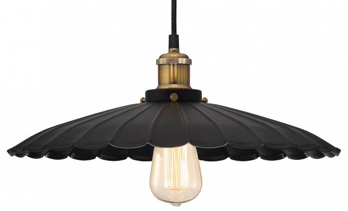 Подвесной светильник LussoleСветильники<br>Артикул - LSP-9603,Бренд - Lussole (Италия),Коллекция - Loft,Гарантия, месяцы - 24,Время изготовления, дней - 1,Высота, мм - 1200,Диаметр, мм - 410,Тип лампы - накаливания,Общее кол-во ламп - 1,Напряжение питания лампы, В - 220,Максимальная мощность лампы, Вт - 60,Цвет лампы - белый теплый,Лампы в комплекте - накаливания E27 GF-E-764,Цвет плафонов и подвесок - черный,Тип поверхности плафонов - матовый, рельефный,Материал плафонов и подвесок - металл,Цвет арматуры - бронза, черный,Тип поверхности арматуры - глянцевый, матовый,Материал арматуры - металл,Количество плафонов - 1,Возможность подлючения диммера - можно,Форма и тип колбы - конусная,Тип цоколя лампы - E27,Цветовая температура, K - 2800 K,Класс электробезопасности - I,Степень пылевлагозащиты, IP - 20,Диапазон рабочих температур - комнатная температура,Дополнительные параметры - стиль Кантри<br>