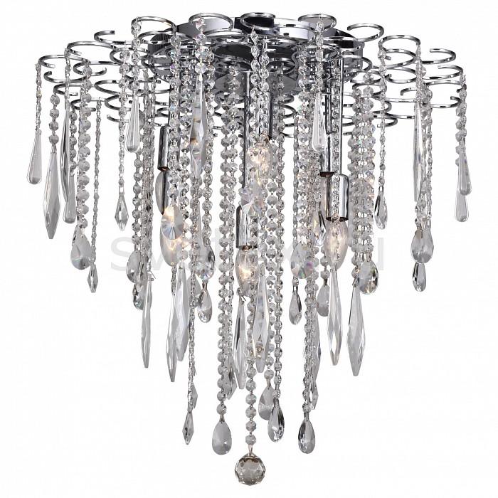 Накладной светильник FavouriteНакладные светильники<br>Артикул - FV_1671-6C,Бренд - Favourite (Германия),Коллекция - Skyfall,Гарантия, месяцы - 24,Высота, мм - 620,Диаметр, мм - 600,Тип лампы - компактная люминесцентная [КЛЛ] ИЛИнакаливания ИЛИсветодиодная [LED],Общее кол-во ламп - 6,Напряжение питания лампы, В - 220,Максимальная мощность лампы, Вт - 40,Лампы в комплекте - отсутствуют,Цвет плафонов и подвесок - неокрашенный,Тип поверхности плафонов - прозрачный, рельефный,Материал плафонов и подвесок - хрусталь,Цвет арматуры - хром,Тип поверхности арматуры - глянцевый,Материал арматуры - металл,Возможность подлючения диммера - можно, если установить лампу накаливания,Тип цоколя лампы - E14,Класс электробезопасности - I,Общая мощность, Вт - 240,Степень пылевлагозащиты, IP - 20,Диапазон рабочих температур - комнатная температура,Дополнительные параметры - способ крепления светильника к потолку - на монтажной пластине<br>