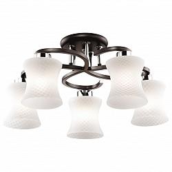 Люстра на штанге Odeon Light5 или 6 ламп<br>Артикул - OD_2439_5C,Бренд - Odeon Light (Италия),Коллекция - Mara,Гарантия, месяцы - 24,Время изготовления, дней - 1,Высота, мм - 450,Диаметр, мм - 550,Тип лампы - компактная люминесцентная [КЛЛ] ИЛИнакаливания ИЛИсветодиодная [LED],Общее кол-во ламп - 5,Напряжение питания лампы, В - 220,Максимальная мощность лампы, Вт - 60,Лампы в комплекте - отсутствуют,Цвет плафонов и подвесок - белый,Тип поверхности плафонов - матовый,Материал плафонов и подвесок - стекло,Цвет арматуры - венге, хром,Тип поверхности арматуры - глянцевый, матовый,Материал арматуры - металл,Возможность подлючения диммера - можно, если установить лампу накаливания,Тип цоколя лампы - E27,Класс электробезопасности - I,Общая мощность, Вт - 300,Степень пылевлагозащиты, IP - 20,Диапазон рабочих температур - комнатная температура<br>