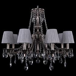 Подвесная люстра Bohemia Ivele CrystalТекстильные плафоны<br>Артикул - BI_1771_8_220_A_NB_SH6,Бренд - Bohemia Ivele Crystal (Чехия),Коллекция - 1771,Гарантия, месяцы - 24,Высота, мм - 620,Диаметр, мм - 690,Размер упаковки, мм - 640x640x320,Тип лампы - компактная люминесцентная [КЛЛ] ИЛИнакаливания ИЛИсветодиодная [LED],Общее кол-во ламп - 8,Напряжение питания лампы, В - 220,Максимальная мощность лампы, Вт - 40,Лампы в комплекте - отсутствуют,Цвет плафонов и подвесок - неокрашенный, серебряный,Тип поверхности плафонов - матовый, прозрачный, рельефный,Материал плафонов и подвесок - шелк индийский, хрусталь,Цвет арматуры - никель черненый,Тип поверхности арматуры - глянцевый, рельефный,Материал арматуры - латунь,Возможность подлючения диммера - можно, если установить лампу накаливания,Тип цоколя лампы - E14,Класс электробезопасности - I,Общая мощность, Вт - 320,Степень пылевлагозащиты, IP - 20,Диапазон рабочих температур - комнатная температура,Дополнительные параметры - способ крепления светильника к потолку - на крюке, указана высота светильника без подвеса<br>