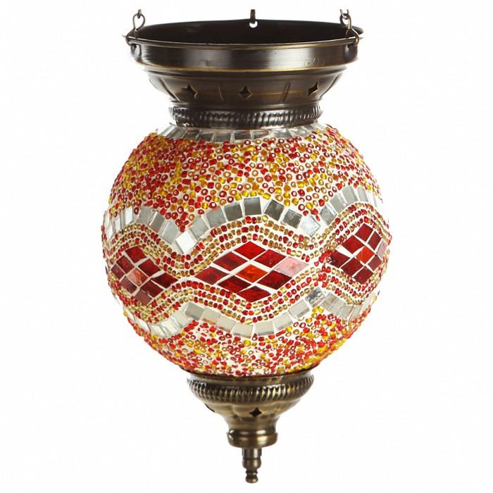 Подвесной светильник Kink LightСветодиодные<br>Артикул - KL_0115.09,Бренд - Kink Light (Китай),Коллекция - Марокко,Гарантия, месяцы - 12,Высота, мм - 600,Диаметр, мм - 150,Тип лампы - компактная люминесцентная [КЛЛ] ИЛИнакаливания ИЛИсветодиодная [LED],Общее кол-во ламп - 1,Напряжение питания лампы, В - 220,Максимальная мощность лампы, Вт - 40,Лампы в комплекте - отсутствуют,Цвет плафонов и подвесок - оранжевый с рисунокм,Тип поверхности плафонов - глянцевый, рельефный,Материал плафонов и подвесок - стекло,Цвет арматуры - бронза,Тип поверхности арматуры - глянцевый,Материал арматуры - металл,Количество плафонов - 1,Возможность подлючения диммера - можно, если установить лампу накаливания,Тип цоколя лампы - E14,Класс электробезопасности - I,Степень пылевлагозащиты, IP - 20,Диапазон рабочих температур - комнатная температура,Дополнительные параметры - техника мозаика<br>