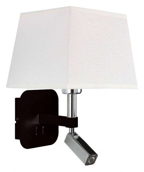 Бра с подсветкой MantraСветодиодные<br>Артикул - MN_5317_5239,Бренд - Mantra (Испания),Коллекция - Habana,Гарантия, месяцы - 24,Ширина, мм - 200,Высота, мм - 366,Выступ, мм - 235,Тип лампы - компактная люминесцентная [КЛЛ] ИЛИсветодиодная [LED],Общее кол-во ламп - 2,Напряжение питания лампы, В - 220,Максимальная мощность лампы, Вт - 3, 13,Цвет лампы - белый теплый,Лампы в комплекте - светодиодные [LED],Цвет плафонов и подвесок - белый,Тип поверхности плафонов - матовый,Материал плафонов и подвесок - текстиль,Цвет арматуры - черный, хром,Тип поверхности арматуры - глянцевый, матовый,Материал арматуры - металл,Количество плафонов - 1,Наличие выключателя, диммера или пульта ДУ - выключатель,Тип цоколя лампы - E27,Цветовая температура, K - 3000 K,Световой поток, лм - 200,Экономичнее лампы накаливания - в 2.6 раза,Светоотдача, лм/Вт - 25,Класс электробезопасности - II,Общая мощность, Вт - 16,Степень пылевлагозащиты, IP - 20,Диапазон рабочих температур - комнатная температура,Дополнительные параметры - способ крепления светильника на стене – на монтажной пластине, светильник предназначен для использования со скрытой проводкой, поворотный светильник<br>
