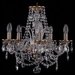 Подвесная люстра Bohemia Ivele Crystal5 или 6 ламп<br>Артикул - BI_1611_5_160_FP,Бренд - Bohemia Ivele Crystal (Чехия),Коллекция - 1611,Гарантия, месяцы - 24,Высота, мм - 420,Диаметр, мм - 480,Размер упаковки, мм - 450x450x200,Тип лампы - компактная люминесцентная [КЛЛ] ИЛИнакаливания ИЛИсветодиодная [LED],Общее кол-во ламп - 5,Напряжение питания лампы, В - 220,Максимальная мощность лампы, Вт - 40,Лампы в комплекте - отсутствуют,Цвет плафонов и подвесок - неокрашенный,Тип поверхности плафонов - прозрачный,Материал плафонов и подвесок - хрусталь,Цвет арматуры - золото французское с патиной, неокрашенный,Тип поверхности арматуры - глянцевый, прозрачный, рельефный,Материал арматуры - латунь, стекло,Возможность подлючения диммера - можно, если установить лампу накаливания,Форма и тип колбы - свеча ИЛИ свеча на ветру,Тип цоколя лампы - E14,Класс электробезопасности - I,Общая мощность, Вт - 200,Степень пылевлагозащиты, IP - 20,Диапазон рабочих температур - комнатная температура,Дополнительные параметры - способ крепления светильника к потолку - на крюке, указана высота светильника без подвеса<br>