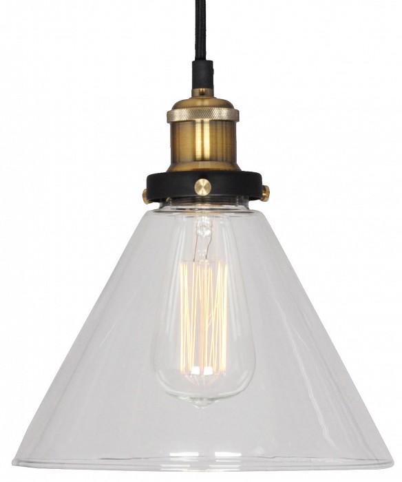 Подвесной светильник LussoleСветильники<br>Артикул - LSP-9607,Бренд - Lussole (Италия),Коллекция - Loft,Гарантия, месяцы - 24,Время изготовления, дней - 1,Высота, мм - 1200,Диаметр, мм - 240,Тип лампы - накаливания,Общее кол-во ламп - 1,Напряжение питания лампы, В - 220,Максимальная мощность лампы, Вт - 60,Цвет лампы - белый теплый,Лампы в комплекте - накаливания E27 GF-E-764,Цвет плафонов и подвесок - неокрашенный,Тип поверхности плафонов - прозрачный,Материал плафонов и подвесок - стекло,Цвет арматуры - бронза, черный,Тип поверхности арматуры - глянцевый, матовый,Материал арматуры - металл,Количество плафонов - 1,Возможность подлючения диммера - можно,Форма и тип колбы - конусная,Тип цоколя лампы - E27,Цветовая температура, K - 2800 K,Класс электробезопасности - I,Степень пылевлагозащиты, IP - 20,Диапазон рабочих температур - комнатная температура,Дополнительные параметры - стиль Кантри<br>