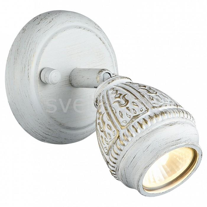 Спот FavouriteСпоты<br>Артикул - FV_1585-1W,Бренд - Favourite (Германия),Коллекция - Sorento,Гарантия, месяцы - 24,Длина, мм - 151,Ширина, мм - 124,Выступ, мм - 100,Тип лампы - галогеновая ИЛИсветодиодная [LED],Общее кол-во ламп - 1,Напряжение питания лампы, В - 220,Максимальная мощность лампы, Вт - 35,Лампы в комплекте - отсутствуют,Цвет плафонов и подвесок - белый с золотой патиной,Тип поверхности плафонов - глянцевый, рельефный,Материал плафонов и подвесок - металл,Цвет арматуры - белый с золотой патиной,Тип поверхности арматуры - глянцевый,Материал арматуры - металл,Количество плафонов - 1,Возможность подлючения диммера - можно, если установить галогеновую лампу,Форма и тип колбы - полусферическая,Тип цоколя лампы - GU10,Класс электробезопасности - I,Степень пылевлагозащиты, IP - 20,Диапазон рабочих температур - комнатная температура,Дополнительные параметры - способ крепления светильника на потолке и стене – на монтажной пластине, поворотный светильник<br>