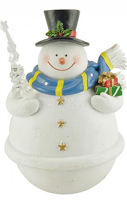 Снеговик Mister ChristmasСнеговики<br>Артикул - MC_MB-53024,Бренд - Mister Christmas (Россия),Коллекция - Поющий,Высота, мм - 150,Высота - 15 см,Цвет - белый,Материал - полимер,Дополнительные параметры - рождественская мелодия, вращение вокруг своей осизаводной механизм<br>