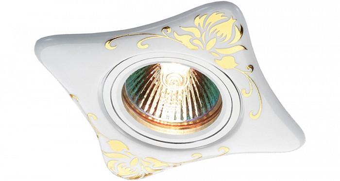 Встраиваемый светильник NovotechСветильники для натяжных потолков<br>Артикул - NV_369929,Бренд - Novotech (Венгрия),Коллекция - Ceramic,Гарантия, месяцы - 24,Время изготовления, дней - 1,Длина, мм - 95,Ширина, мм - 95,Выступ, мм - 13,Глубина, мм - 12,Размер врезного отверстия, мм - 65,Тип лампы - галогеновая ИЛИсветодиодная [LED],Общее кол-во ламп - 1,Напряжение питания лампы, В - 12,Максимальная мощность лампы, Вт - 50,Цвет лампы - белый теплый,Лампы в комплекте - отсутствуют,Цвет арматуры - алюминий, белый и золотым рисунком,Тип поверхности арматуры - матовый, глянцевый,Материал арматуры - алюминий, керамика,Количество плафонов - 1,Возможность подлючения диммера - можно, если установить галогеновую лампу и подключить трансформатор 12 В с возможностью диммирования,Необходимые компоненты - трансформатор 12 В,Компоненты, входящие в комплект - нет,Форма и тип колбы - полусферическая с рефлектором,Тип цоколя лампы - GX5.3,Цветовая температура, K - 2800 - 3200 K,Экономичнее лампы накаливания - на 50%,Класс электробезопасности - III,Напряжение питания, В - 220,Общая мощность, Вт - 50,Степень пылевлагозащиты, IP - 20,Диапазон рабочих температур - комнатная температура<br>