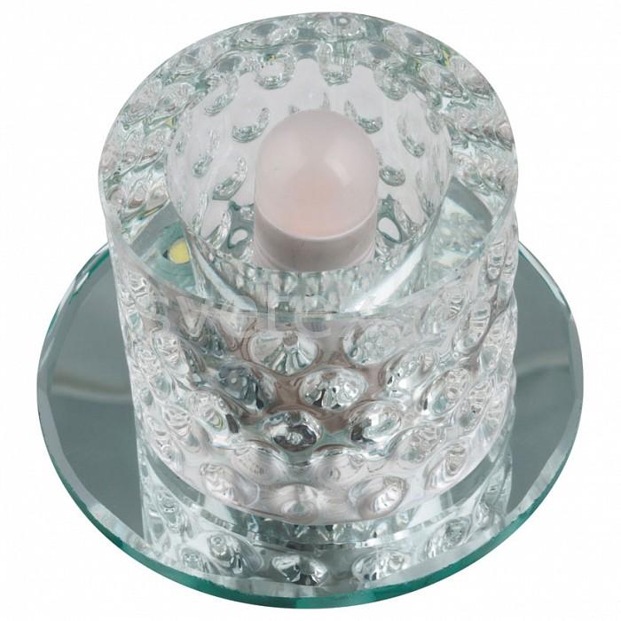 Встраиваемый светильник UnielКруглые<br>Примечание - прозрачный,Артикул - UL_10745,Бренд - Uniel (Китай),Коллекция - Luciole,Гарантия, месяцы - 24,Высота, мм - 74,Выступ, мм - 56,Глубина, мм - 18,Диаметр, мм - 85,Размер врезного отверстия, мм - d70,Тип лампы - светодиодная (LED), галогеновая,Общее кол-во ламп - 1,Максимальная мощность лампы, Вт - 35,Лампы в комплекте - отсутствуют,Цвет плафонов и подвесок - неокрашенный, черный,Тип поверхности плафонов - прозрачный,Материал плафонов и подвесок - стекло,Цвет арматуры - неокрашенный,Тип поверхности арматуры - глянцевый,Материал арматуры - зеркало,Количество плафонов - 1,Возможность подлючения диммера - можно, если установить галогеновую лампу,Форма и тип колбы - пальчиковая,Тип цоколя лампы - G9,Класс электробезопасности - I,Напряжение питания, В - 220,Степень пылевлагозащиты, IP - 20,Диапазон рабочих температур - комнатная температура,Дополнительные параметры - светильник декорирован светодиодной подстветкой общей мощностью 1 Вт<br>