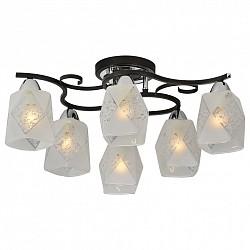 Потолочная люстра IDLamp5 или 6 ламп<br>Артикул - ID_233_6PF-Blackchrome,Бренд - IDLamp (Италия),Коллекция - 233,Высота, мм - 240,Диаметр, мм - 630,Тип лампы - компактная люминесцентная [КЛЛ] ИЛИнакаливания ИЛИсветодиодная [LED],Общее кол-во ламп - 6,Напряжение питания лампы, В - 220,Максимальная мощность лампы, Вт - 60,Лампы в комплекте - отсутствуют,Цвет плафонов и подвесок - белый с рисунком,Тип поверхности плафонов - матовый,Материал плафонов и подвесок - стекло,Цвет арматуры - хром, черный,Тип поверхности арматуры - глянцевый, матовый,Материал арматуры - металл,Возможность подлючения диммера - можно, если установить лампу накаливания,Тип цоколя лампы - E14,Класс электробезопасности - I,Общая мощность, Вт - 360,Степень пылевлагозащиты, IP - 20,Диапазон рабочих температур - комнатная температура,Дополнительные параметры - способ крепления светильника к потолку – на монтажной пластине<br>