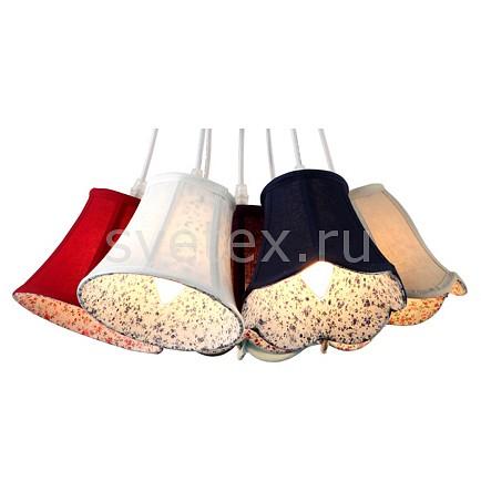 Подвесной светильник Arte LampБарные<br>Артикул - AR_A9211SP-7WH,Бренд - Arte Lamp (Италия),Коллекция - Provence,Гарантия, месяцы - 24,Время изготовления, дней - 1,Высота, мм - 300-900,Диаметр, мм - 320,Тип лампы - компактная люминесцентная [КЛЛ] ИЛИнакаливания ИЛИсветодиодная [LED],Общее кол-во ламп - 7,Напряжение питания лампы, В - 220,Максимальная мощность лампы, Вт - 40,Лампы в комплекте - отсутствуют,Цвет плафонов и подвесок - белый, бордовый, голубой, зеленый, красный, синий,Тип поверхности плафонов - матовый,Материал плафонов и подвесок - ткань на ПВХ-основе,Цвет арматуры - белый,Тип поверхности арматуры - глянцевый,Материал арматуры - металл, полимер,Количество плафонов - 7,Возможность подлючения диммера - можно, если установить лампу накаливания,Тип цоколя лампы - E14,Класс электробезопасности - I,Общая мощность, Вт - 280,Степень пылевлагозащиты, IP - 20,Диапазон рабочих температур - комнатная температура,Дополнительные параметры - возможна регулировка высоты подвесов отдельно для каждого плафона<br>