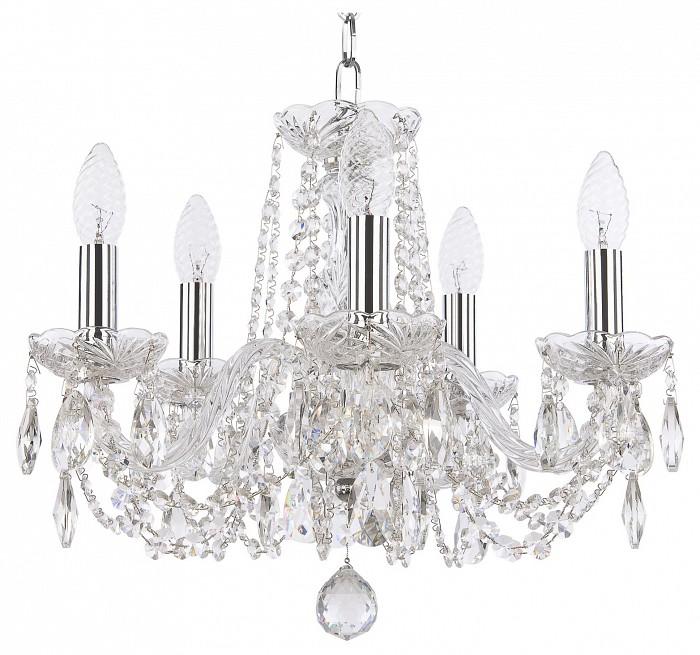 Фото Подвесная люстра Bohemia Ivele Crystal 1402 1402/5/141/Ni