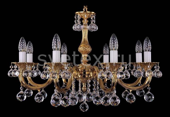 Фото Подвесная люстра Bohemia Ivele Crystal 1702 1702/8/A/G/Balls
