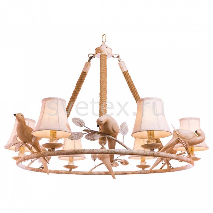Подвесная люстра Loft itСветильники<br>Артикул - LF_LOFT8138-6,Бренд - Loft it (Испания),Коллекция - 8138,Гарантия, месяцы - 24,Высота, мм - 900-1800,Диаметр, мм - 640,Тип лампы - компактная люминесцентная [КЛЛ] ИЛИнакаливания ИЛИсветодиодная [LED],Общее кол-во ламп - 6,Напряжение питания лампы, В - 220,Максимальная мощность лампы, Вт - 60,Лампы в комплекте - отсутствуют,Цвет плафонов и подвесок - белый,Тип поверхности плафонов - матовый,Материал плафонов и подвесок - текстиль,Цвет арматуры - белый, коричневый,Тип поверхности арматуры - матовый,Материал арматуры - канат, металл,Количество плафонов - 6,Возможность подлючения диммера - можно, если установить лампу накаливания,Тип цоколя лампы - E14,Класс электробезопасности - I,Общая мощность, Вт - 360,Степень пылевлагозащиты, IP - 20,Диапазон рабочих температур - комнатная температура,Дополнительные параметры - способ крепления светильника к потолку - на круке, светильник регулируется по высоте<br>