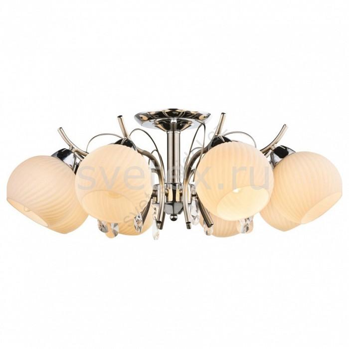 Люстра на штанге GloboЛюстры<br>Артикул - GB_54711-8,Бренд - Globo (Австрия),Коллекция - Perdita,Гарантия, месяцы - 24,Высота, мм - 240,Диаметр, мм - 600,Тип лампы - компактная люминесцентная [КЛЛ] ИЛИнакаливания ИЛИсветодиодная [LED],Общее кол-во ламп - 8,Напряжение питания лампы, В - 220,Максимальная мощность лампы, Вт - 40,Лампы в комплекте - отсутствуют,Цвет плафонов и подвесок - белый полосатый, неокрашенный,Тип поверхности плафонов - матовый, прозрачный, рельефные,Материал плафонов и подвесок - стекло, хрусталь,Цвет арматуры - хром,Тип поверхности арматуры - глянцевый,Материал арматуры - металл,Количество плафонов - 8,Возможность подлючения диммера - можно, если установить лампу накаливания,Тип цоколя лампы - E14,Класс электробезопасности - I,Общая мощность, Вт - 320,Степень пылевлагозащиты, IP - 20,Диапазон рабочих температур - комнатная температура,Дополнительные параметры - способ крепления к потолку - на монтажной пластине<br>