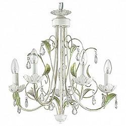 Подвесная люстра Lumion5 или 6 ламп<br>Артикул - LMN_3114_5,Бренд - Lumion (Италия),Коллекция - Marissa,Гарантия, месяцы - 24,Высота, мм - 900,Диаметр, мм - 530,Размер упаковки, мм - 150x270x450,Тип лампы - компактная люминесцентная [КЛЛ] ИЛИнакаливания ИЛИсветодиодная [LED],Общее кол-во ламп - 5,Напряжение питания лампы, В - 220,Максимальная мощность лампы, Вт - 40,Лампы в комплекте - отсутствуют,Цвет плафонов и подвесок - неокрашенный,Тип поверхности плафонов - прозрачный,Материал плафонов и подвесок - хрусталь,Цвет арматуры - белый с золотой патиной, зеленый,Тип поверхности арматуры - матовый,Материал арматуры - металл,Возможность подлючения диммера - можно, если установить лампу накаливания,Форма и тип колбы - свеча ИЛИ свеча на ветру,Тип цоколя лампы - E14,Класс электробезопасности - I,Общая мощность, Вт - 200,Степень пылевлагозащиты, IP - 20,Диапазон рабочих температур - комнатная температура,Дополнительные параметры - способ крепления к потолку - на крюке, регулируется по высоте<br>