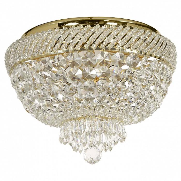 Потолочная люстра Dio D'Arte5 или 6 ламп<br>Артикул - DDA_Bari_E_1.2.35.400_G,Бренд - Dio D'Arte (Италия),Коллекция - Bari,Гарантия, месяцы - 24,Высота, мм - 310,Диаметр, мм - 350,Тип лампы - компактная люминесцентная [КЛЛ] ИЛИнакаливания ИЛИсветодиодная [LED],Общее кол-во ламп - 6,Напряжение питания лампы, В - 220,Максимальная мощность лампы, Вт - 60,Лампы в комплекте - отсутствуют,Цвет плафонов и подвесок - неокрашенный,Тип поверхности плафонов - прозрачный,Материал плафонов и подвесок - хрусталь Swarovski Elements,Цвет арматуры - золото,Тип поверхности арматуры - глянцевый,Материал арматуры - металл,Возможность подлючения диммера - можно, если установить лампу накаливания,Тип цоколя лампы - E27,Класс электробезопасности - I,Общая мощность, Вт - 360,Степень пылевлагозащиты, IP - 20,Диапазон рабочих температур - комнатная температура,Дополнительные параметры - способ крепления светильника к потолку - на монтажной пластине<br>