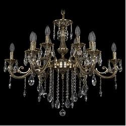 Подвесная люстра Bohemia Ivele CrystalБолее 6 ламп<br>Артикул - BI_1703_12_320_B_GB,Бренд - Bohemia Ivele Crystal (Чехия),Коллекция - 1703,Гарантия, месяцы - 24,Высота, мм - 460,Диаметр, мм - 840,Размер упаковки, мм - 640x640x350,Тип лампы - компактная люминесцентная [КЛЛ] ИЛИнакаливания ИЛИсветодиодная [LED],Общее кол-во ламп - 12,Напряжение питания лампы, В - 220,Максимальная мощность лампы, Вт - 40,Лампы в комплекте - отсутствуют,Цвет плафонов и подвесок - неокрашенный,Тип поверхности плафонов - прозрачный,Материал плафонов и подвесок - хрусталь,Цвет арматуры - золото черненое,Тип поверхности арматуры - глянцевый, рельефный,Материал арматуры - латунь,Возможность подлючения диммера - можно, если установить лампу накаливания,Форма и тип колбы - свеча ИЛИ свеча на ветру,Тип цоколя лампы - E14,Класс электробезопасности - I,Общая мощность, Вт - 480,Степень пылевлагозащиты, IP - 20,Диапазон рабочих температур - комнатная температура,Дополнительные параметры - способ крепления светильника к потолку - на крюке, указана высота светильника без подвеса<br>
