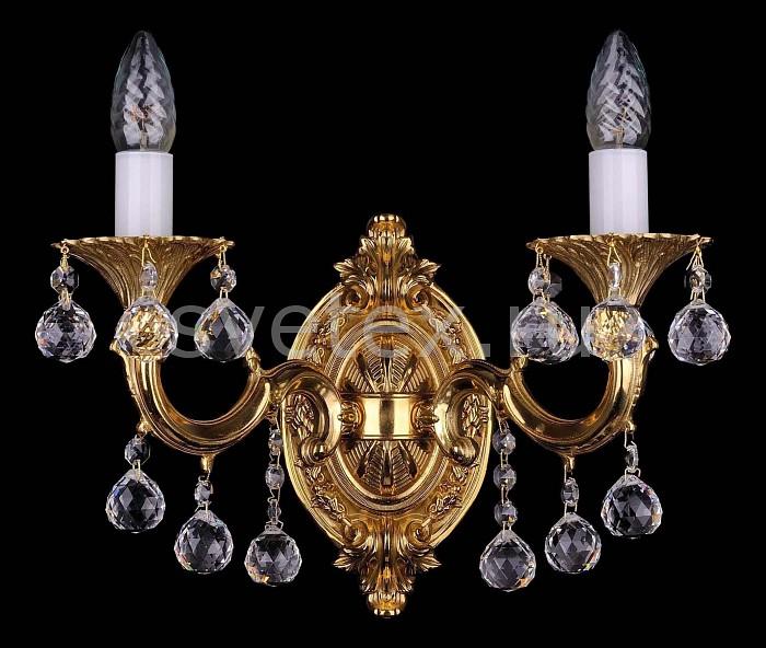 Фото Бра Bohemia Ivele Crystal 1700 1700/2/B/G/Balls