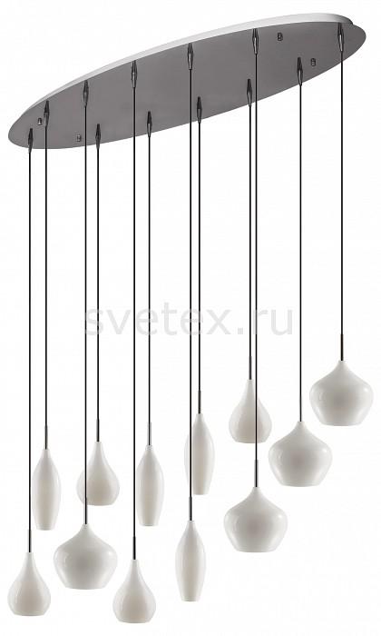 Подвесной светильник LightstarБарные<br>Артикул - LS_803220,Бренд - Lightstar (Италия),Коллекция - Pentola,Гарантия, месяцы - 24,Время изготовления, дней - 1,Длина, мм - 1000,Ширина, мм - 350,Высота, мм - 370-1700,Тип лампы - компактная люминесцентная [КЛЛ] ИЛИнакаливания ИЛИсветодиодная [LED],Общее кол-во ламп - 12,Напряжение питания лампы, В - 220,Максимальная мощность лампы, Вт - 40,Лампы в комплекте - отсутствуют,Цвет плафонов и подвесок - белый,Тип поверхности плафонов - матовый,Материал плафонов и подвесок - стекло,Цвет арматуры - хром,Тип поверхности арматуры - глянцевый,Материал арматуры - металл,Количество плафонов - 12,Возможность подлючения диммера - можно, если установить лампу накаливания,Тип цоколя лампы - E14,Класс электробезопасности - I,Общая мощность, Вт - 480,Степень пылевлагозащиты, IP - 20,Диапазон рабочих температур - комнатная температура,Дополнительные параметры - регулируется по высоте,  способ крепления светильника к потолку – на монтажной пластине<br>