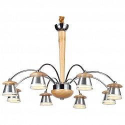 Подвесная люстра Lucia TucciМеталлические плафоны<br>Артикул - LT_Natura_158.8,Бренд - Lucia Tucci (Италия),Коллекция - Natura,Гарантия, месяцы - 24,Высота, мм - 790,Диаметр, мм - 650,Тип лампы - светодиодная [LED],Общее кол-во ламп - 8,Напряжение питания лампы, В - 220,Максимальная мощность лампы, Вт - 5,Лампы в комплекте - светодиодные [LED],Цвет плафонов и подвесок - белый, хром,Тип поверхности плафонов - глянцевый, матовый,Материал плафонов и подвесок - акрил, металл,Цвет арматуры - сосна, хром,Тип поверхности арматуры - глянцевый, матовый,Материал арматуры - дерево, металл,Возможность подлючения диммера - нельзя,Класс электробезопасности - I,Общая мощность, Вт - 40,Степень пылевлагозащиты, IP - 20,Диапазон рабочих температур - комнатная температура,Дополнительные параметры - регулируется по высоте,  способ крепления светильника к потолку – на крюке<br>