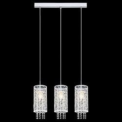 Подвесной светильник EurosvetСветодиодные<br>Артикул - EV_76372,Бренд - Eurosvet (Китай),Коллекция - 50031,Гарантия, месяцы - 24,Высота, мм - 1000,Тип лампы - компактная люминесцентная [КЛЛ] ИЛИнакаливания ИЛИсветодиодная [LED],Общее кол-во ламп - 3,Напряжение питания лампы, В - 220,Максимальная мощность лампы, Вт - 60,Лампы в комплекте - отсутствуют,Цвет плафонов и подвесок - белый, неокрашенный,Тип поверхности плафонов - матовый, прозрачный,Материал плафонов и подвесок - металл, хрусталь,Цвет арматуры - хром,Тип поверхности арматуры - глянцевый,Материал арматуры - металл,Возможность подлючения диммера - можно, если установить лампу накаливания,Тип цоколя лампы - E14,Класс электробезопасности - I,Общая мощность, Вт - 180,Степень пылевлагозащиты, IP - 20,Диапазон рабочих температур - комнатная температура,Дополнительные параметры - способ крепления светильника к потолку - на монтажной пластине, регулируется по высоте<br>