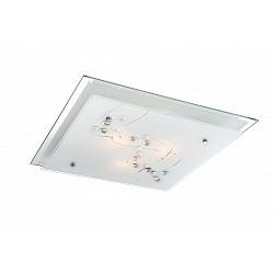 Накладной светильник GloboКвадратные<br>Артикул - GB_48092-3,Бренд - Globo (Австрия),Коллекция - Ballerina I,Гарантия, месяцы - 24,Высота, мм - 85,Тип лампы - компактная люминесцентная [КЛЛ] ИЛИнакаливания ИЛИсветодиодная [LED],Общее кол-во ламп - 3,Напряжение питания лампы, В - 220,Максимальная мощность лампы, Вт - 60,Лампы в комплекте - отсутствуют,Цвет плафонов и подвесок - белый с неокрашенным рисунком,Тип поверхности плафонов - матовый, прозрачный,Материал плафонов и подвесок - стекло,Цвет арматуры - хром,Тип поверхности арматуры - глянцевый,Материал арматуры - металл,Количество плафонов - 1,Возможность подлючения диммера - можно, если установить лампу накаливания,Тип цоколя лампы - E27,Класс электробезопасности - I,Общая мощность, Вт - 180,Степень пылевлагозащиты, IP - 20,Диапазон рабочих температур - комнатная температура<br>