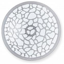 Накладной светильник TopLightКруглые<br>Артикул - TPL_TL9111Y-02WH,Бренд - TopLight (Россия),Коллекция - Rosemary,Гарантия, месяцы - 24,Диаметр, мм - 300,Размер упаковки, мм - 350x120x350,Тип лампы - компактная люминесцентная [КЛЛ] ИЛИнакаливания ИЛИсветодиодная [LED],Общее кол-во ламп - 2,Напряжение питания лампы, В - 220,Максимальная мощность лампы, Вт - 60,Лампы в комплекте - отсутствуют,Цвет плафонов и подвесок - неокрашенный с белым рисунком,Тип поверхности плафонов - матовый, прозрачный, рельефный,Материал плафонов и подвесок - стекло,Цвет арматуры - хром,Тип поверхности арматуры - глянцевый,Материал арматуры - металл,Возможность подлючения диммера - можно, если установить лампу накаливания,Тип цоколя лампы - E27,Класс электробезопасности - I,Общая мощность, Вт - 120,Степень пылевлагозащиты, IP - 20,Диапазон рабочих температур - комнатная температура,Дополнительные параметры - способ крепления светильника к потолку и к стене - на монтажной пластине<br>
