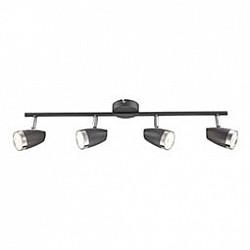 Спот GloboС 4 лампами<br>Артикул - GB_56110-4,Бренд - Globo (Австрия),Коллекция - Nero,Гарантия, месяцы - 24,Тип лампы - светодиодная [LED],Общее кол-во ламп - 4,Максимальная мощность лампы, Вт - 4,Лампы в комплекте - светодиодные [LED],Цвет плафонов и подвесок - черный с каймой,Тип поверхности плафонов - матовый,Материал плафонов и подвесок - металл,Цвет арматуры - черный,Тип поверхности арматуры - матовый,Материал арматуры - металл,Возможность подлючения диммера - нельзя,Класс электробезопасности - I,Общая мощность, Вт - 16,Степень пылевлагозащиты, IP - 20,Диапазон рабочих температур - комнатная температура,Дополнительные параметры - способ крепления светильника к потолку и стене - на монтажной пластине, поворотный светильник<br>