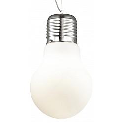 Подвесной светильник Odeon LightБарные<br>Артикул - OD_2872_1,Бренд - Odeon Light (Италия),Коллекция - Bulb,Гарантия, месяцы - 24,Высота, мм - 360-1400,Диаметр, мм - 210,Тип лампы - компактная люминесцентная [КЛЛ] ИЛИнакаливания ИЛИсветодиодная [LED],Общее кол-во ламп - 1,Напряжение питания лампы, В - 220,Максимальная мощность лампы, Вт - 60,Лампы в комплекте - отсутствуют,Цвет плафонов и подвесок - белый,Тип поверхности плафонов - матовый,Материал плафонов и подвесок - стекло,Цвет арматуры - хром,Тип поверхности арматуры - глянцевый,Материал арматуры - металл,Возможность подлючения диммера - можно, если установить лампу накаливания,Тип цоколя лампы - E27,Класс электробезопасности - I,Степень пылевлагозащиты, IP - 20,Диапазон рабочих температур - комнатная температура,Дополнительные параметры - способ крепления светильника на потолке - на крюке, регулируется по высоте<br>