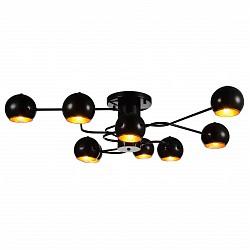 Потолочная люстра ST-LuceМеталлические плафоны<br>Артикул - SL854.242.09,Бренд - ST-Luce (Китай),Коллекция - SL854,Гарантия, месяцы - 24,Высота, мм - 230,Размер упаковки, мм - 910х910х300,Тип лампы - компактная люминесцентная [КЛЛ] ИЛИнакаливания ИЛИсветодиодная [LED],Общее кол-во ламп - 9,Напряжение питания лампы, В - 220,Максимальная мощность лампы, Вт - 40,Лампы в комплекте - отсутствуют,Цвет плафонов и подвесок - золото, черный,Тип поверхности плафонов - глянцевый, металлик,Материал плафонов и подвесок - металл,Цвет арматуры - черный,Тип поверхности арматуры - глянцевый,Материал арматуры - металл,Возможность подлючения диммера - можно, если установить лампу накаливания,Тип цоколя лампы - E14,Класс электробезопасности - I,Общая мощность, Вт - 360,Степень пылевлагозащиты, IP - 20,Диапазон рабочих температур - комнатная температура,Дополнительные параметры - способ крепления светильника к потолку – на монтажной пластине<br>