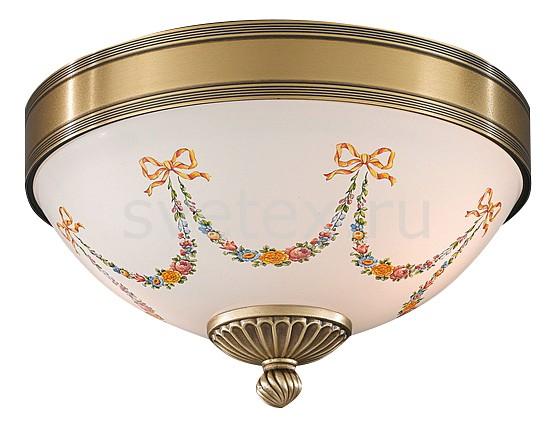 Накладной светильник Reccagni AngeloКруглые<br>Артикул - RA_PL_8010_2,Бренд - Reccagni Angelo (Италия),Коллекция - 8010,Гарантия, месяцы - 24,Высота, мм - 190,Диаметр, мм - 240,Тип лампы - компактная люминесцентная [КЛЛ] ИЛИнакаливания ИЛИсветодиодная [LED],Общее кол-во ламп - 2,Напряжение питания лампы, В - 220,Максимальная мощность лампы, Вт - 60,Лампы в комплекте - отсутствуют,Цвет плафонов и подвесок - белый с рисунком,Тип поверхности плафонов - матовый,Материал плафонов и подвесок - стекло,Цвет арматуры - бронза состаренная,Тип поверхности арматуры - матовый, рельефный,Материал арматуры - латунь,Количество плафонов - 1,Возможность подлючения диммера - можно, если установить лампу накаливания,Тип цоколя лампы - E27,Класс электробезопасности - I,Общая мощность, Вт - 120,Степень пылевлагозащиты, IP - 20,Диапазон рабочих температур - комнатная температура,Дополнительные параметры - способ крепления к потолку - на монтажной пластине<br>
